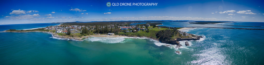 Clarence Head Lighthouse and Yamba Point in Northern NSW