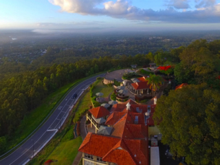 Mount Cootha Lookout aerial panorama