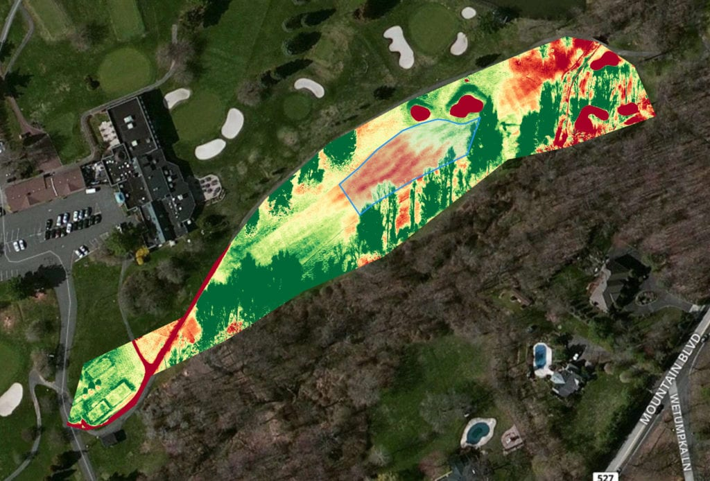 NDVI golf course mapping