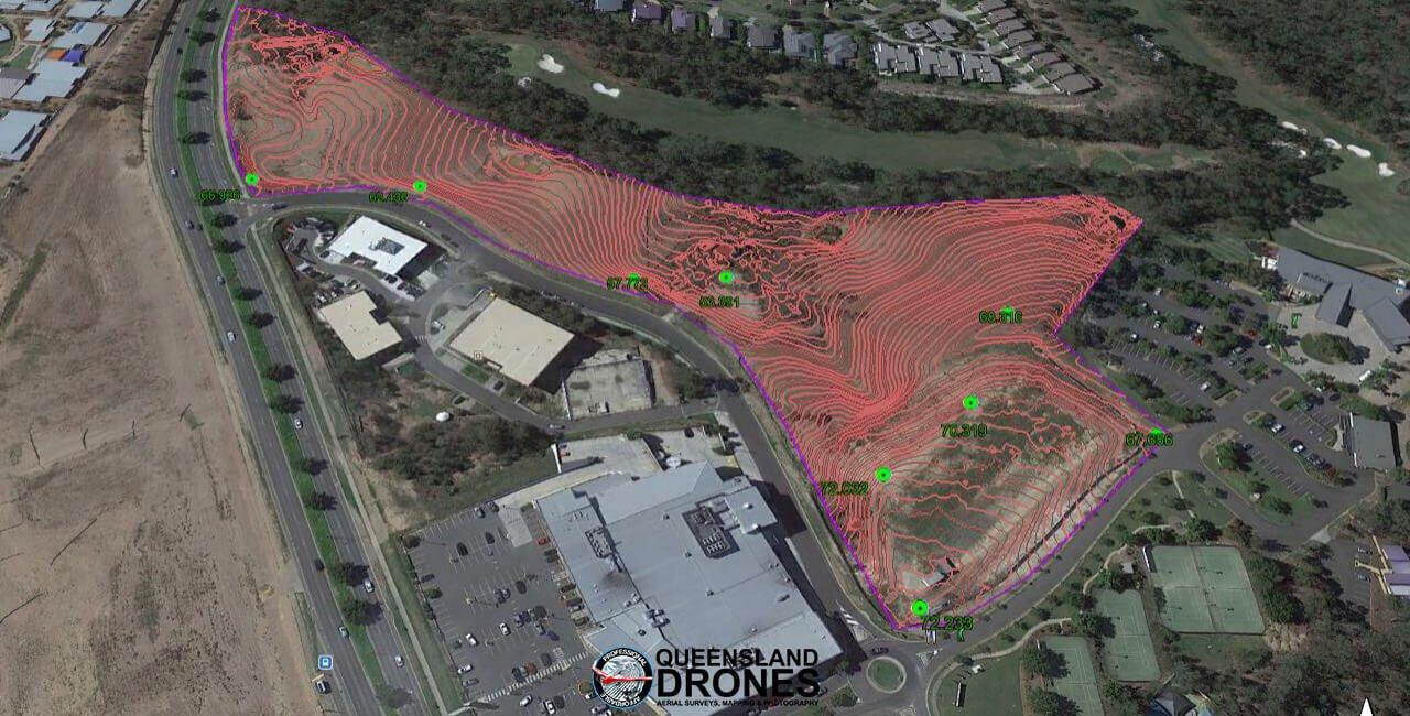 3D model of terraformed development site