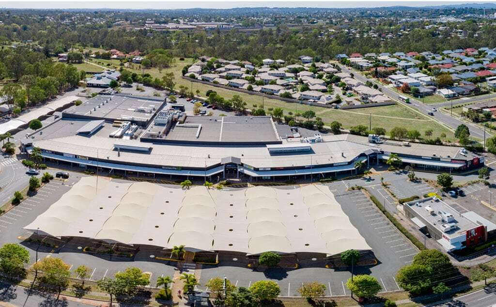 Aerial photography of a shopping centre