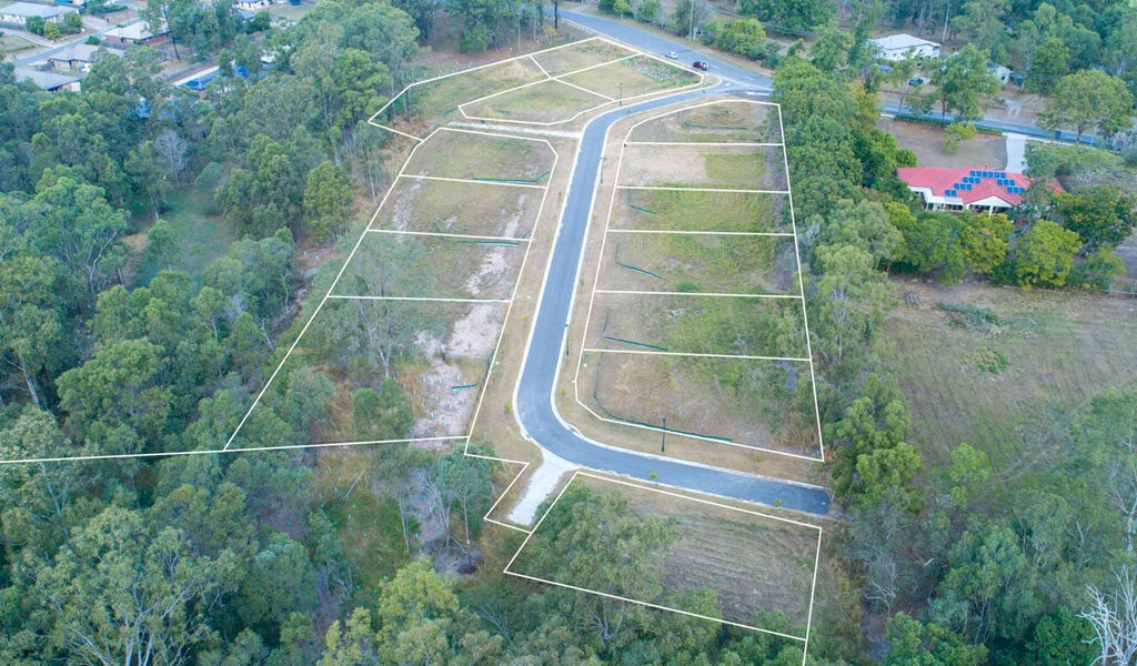 land development aerial photo