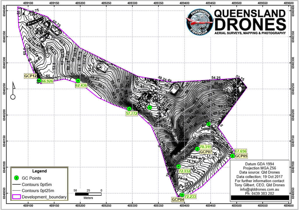 aerial contour mapping geolocation sample