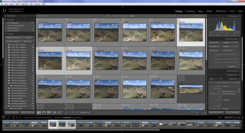 Editing aerial photos in Lightroom