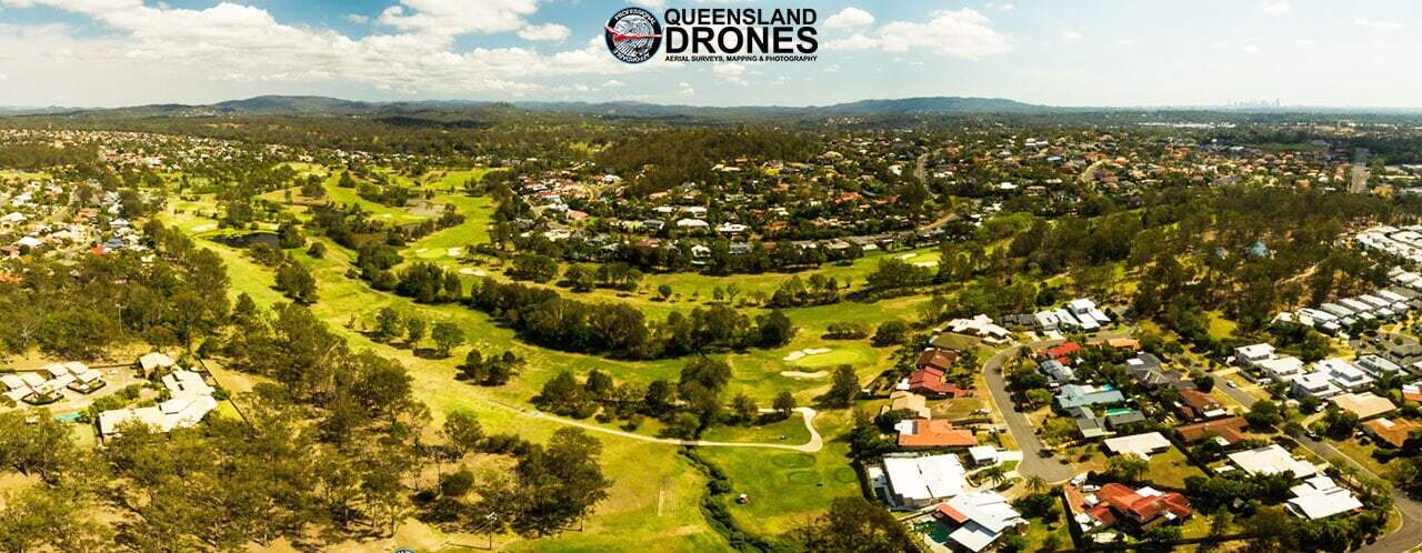 Aerial golf course photography