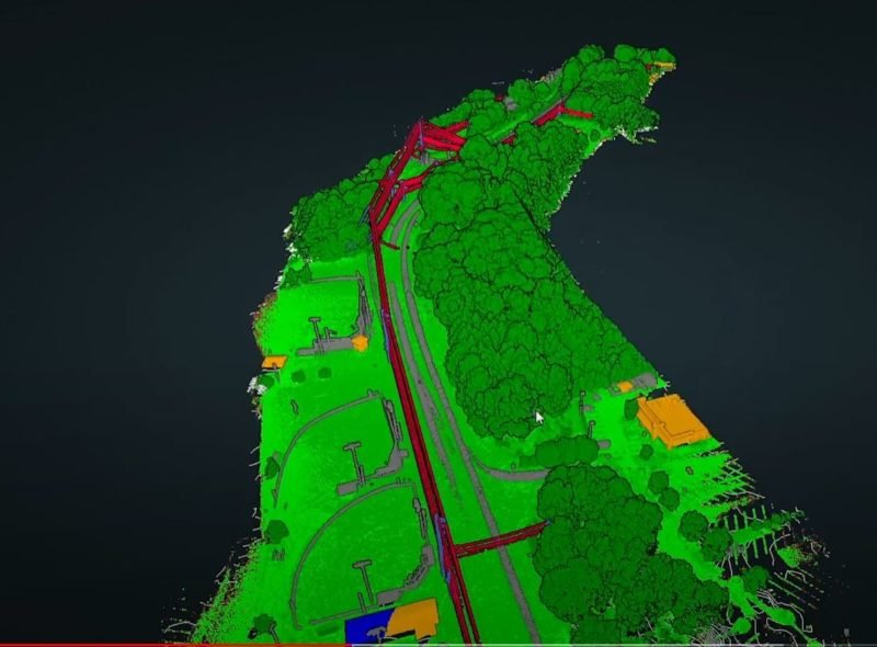 Point cloud with classifications