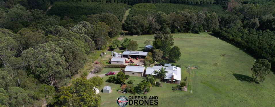 Aerial rural real estate photography