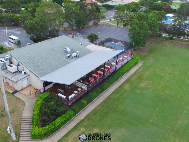Aerial business promotion photography