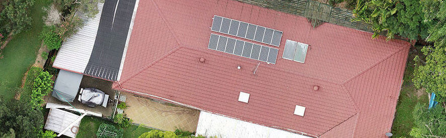 aerial inspection of a roof