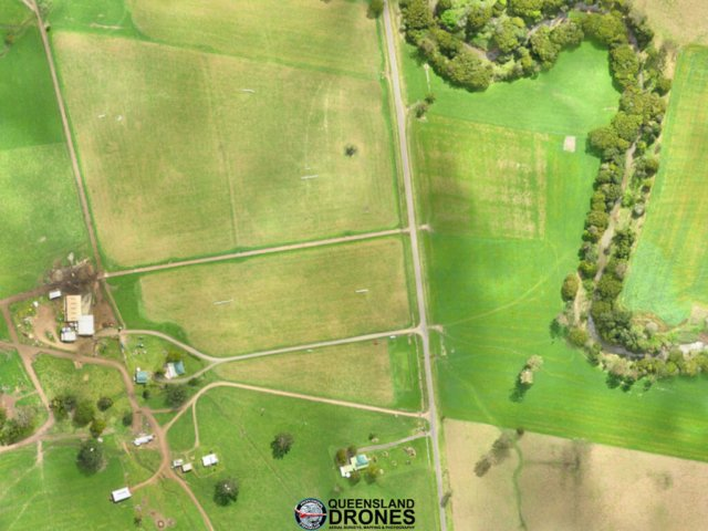 aerial imagery of dairy pasture