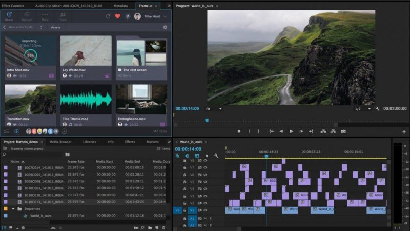 aerial video editing in Premiere Pro