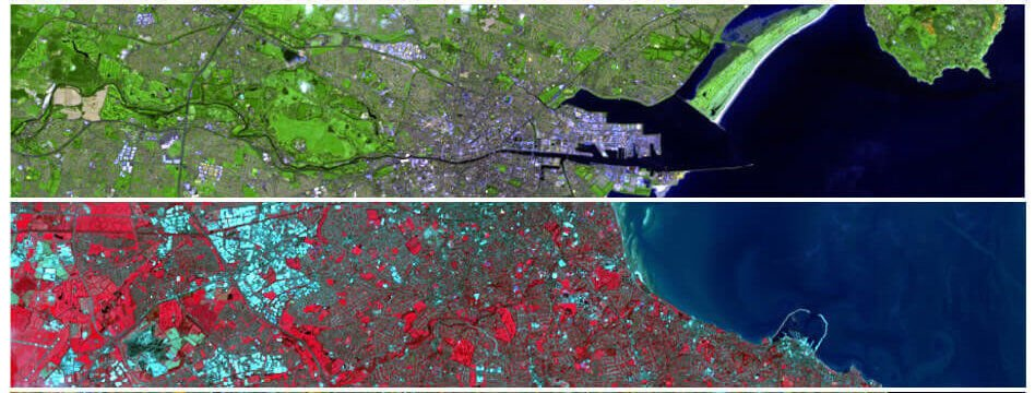 Typical Landsat multispectral imagery